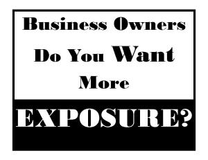Alumni in Biz Exposure Sign