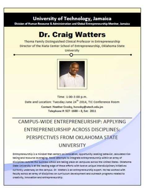 Developmental Opportunity_Forum on Campus-Wide Entrepreneurship